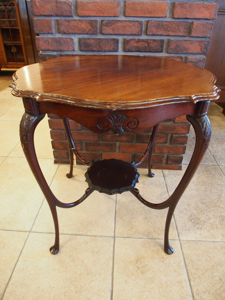 アンティーク家具 ウィンドウテーブル ティーテーブル サイドテーブル 玄関ホール 花台 ツインアンティークス