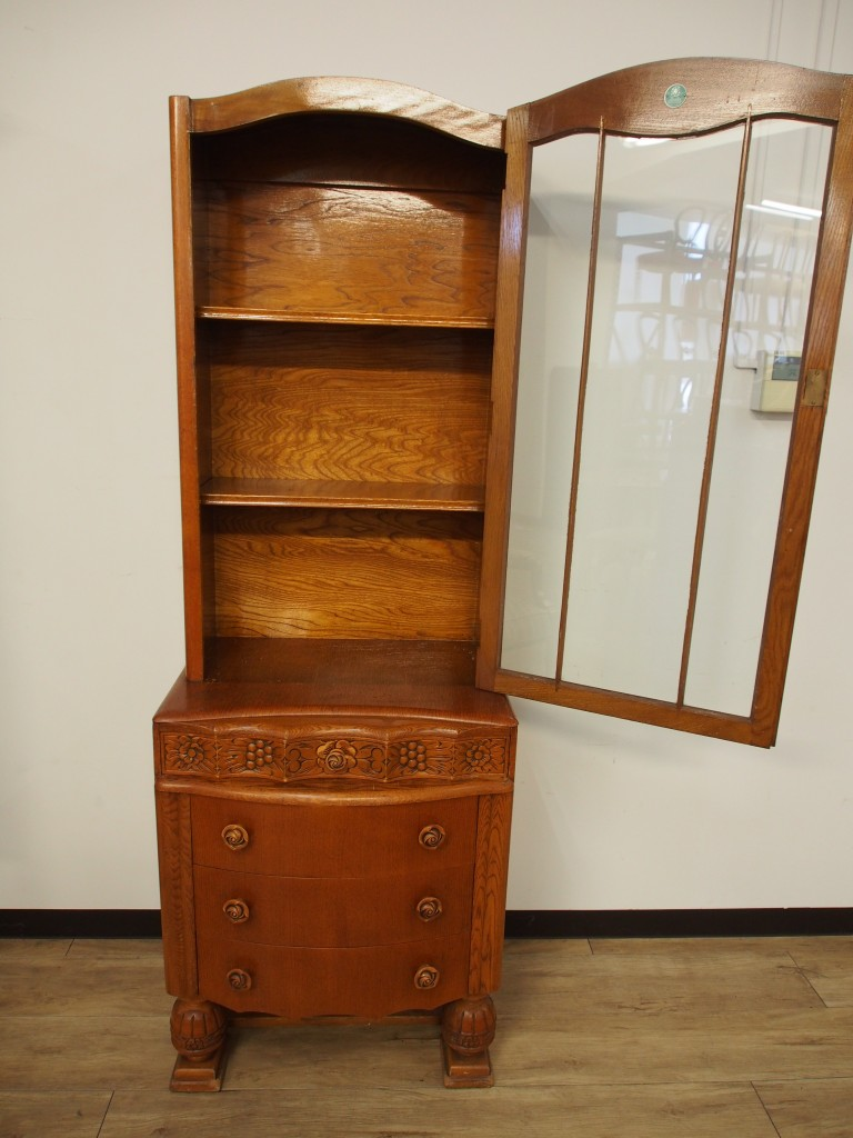 アンティーク家具 ブックケース 本棚 キャビネット 収納 ツインアンティークス