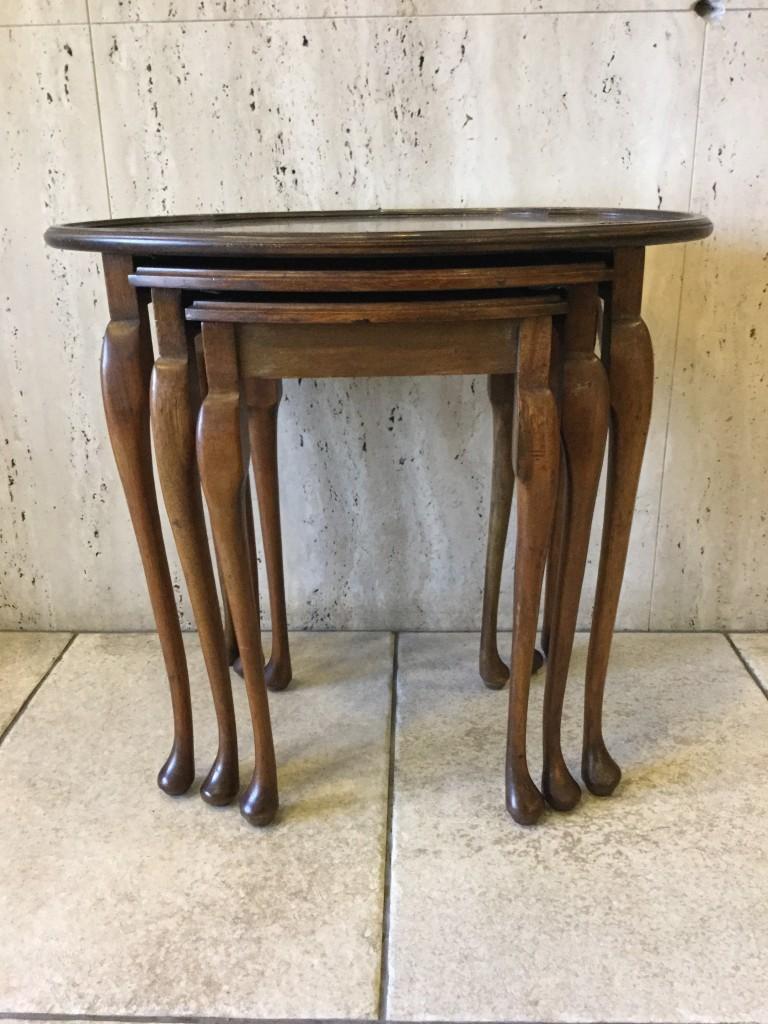 アンティーク家具 ネストテーブル コーヒーテーブル ミニテーブル ソファテーブル サイドテーブル ツインアンティークス twinantiques マホガニー