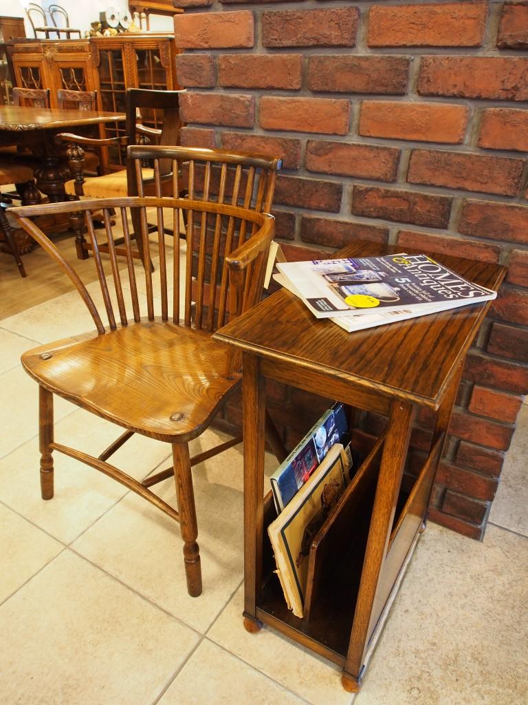 アンティーク家具 マガジンラック サイドテーブル ティーテーブル ベッドサイドテーブル ツインアンティークス 大阪