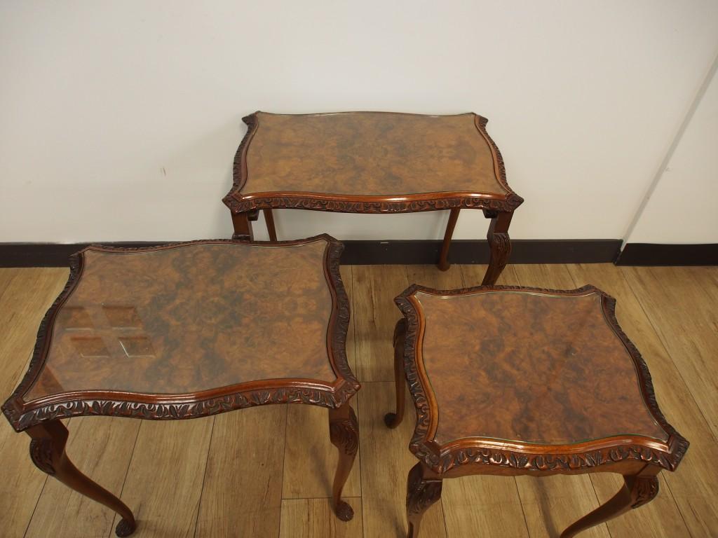 アンティーク家具 アンティーク ネストテーブル ソファテーブル コーヒーテーブル サイドテーブル ツインアンティークス