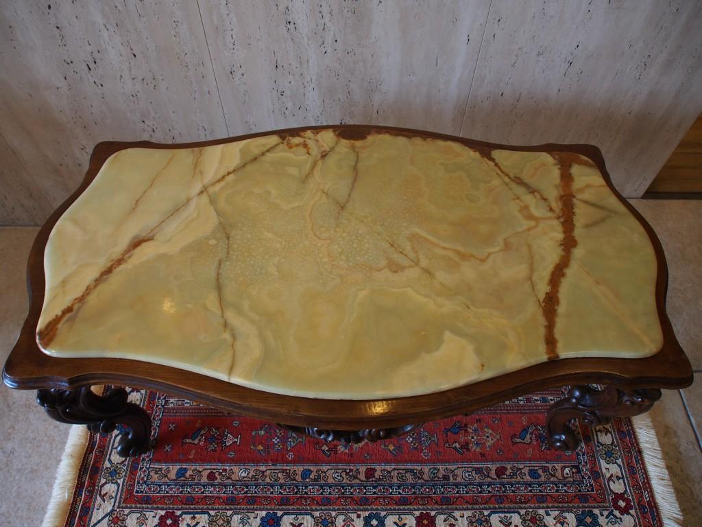 アンティーク家具 アンティーク コーヒーテーブル 大理石 ウォルナット ツインアンティークス