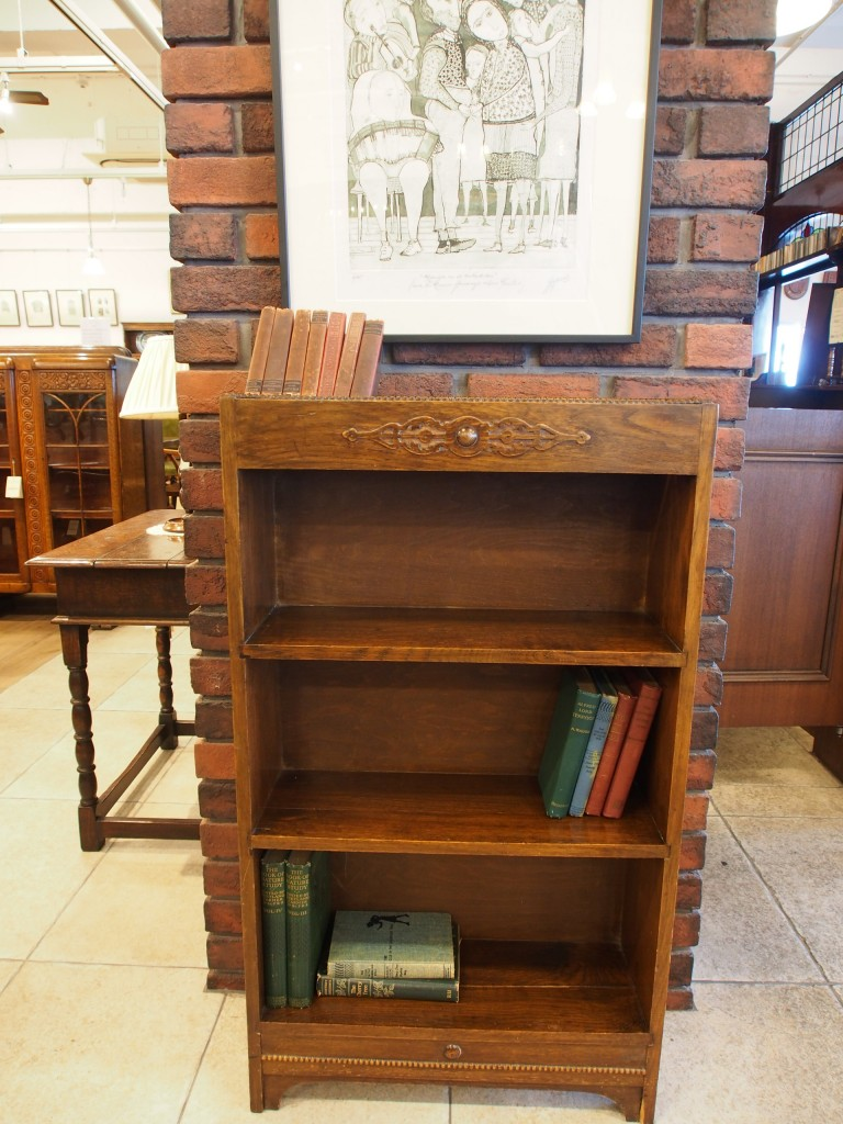 アンティーク家具 アンティーク オープンブックケース ブックケース 本棚 ツインアンティークス