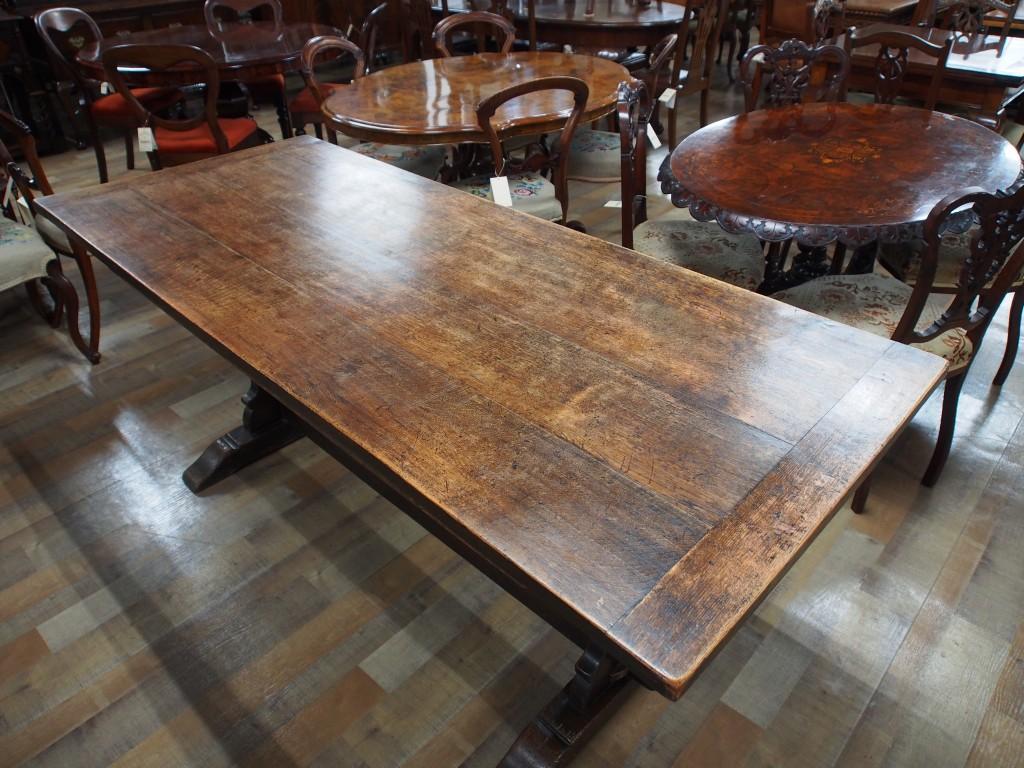 アンティーク家具 リフェクトリーテーブル ダイニングテーブル テーブル 作業台 カントリー シャビー ツインアンティークス 大阪