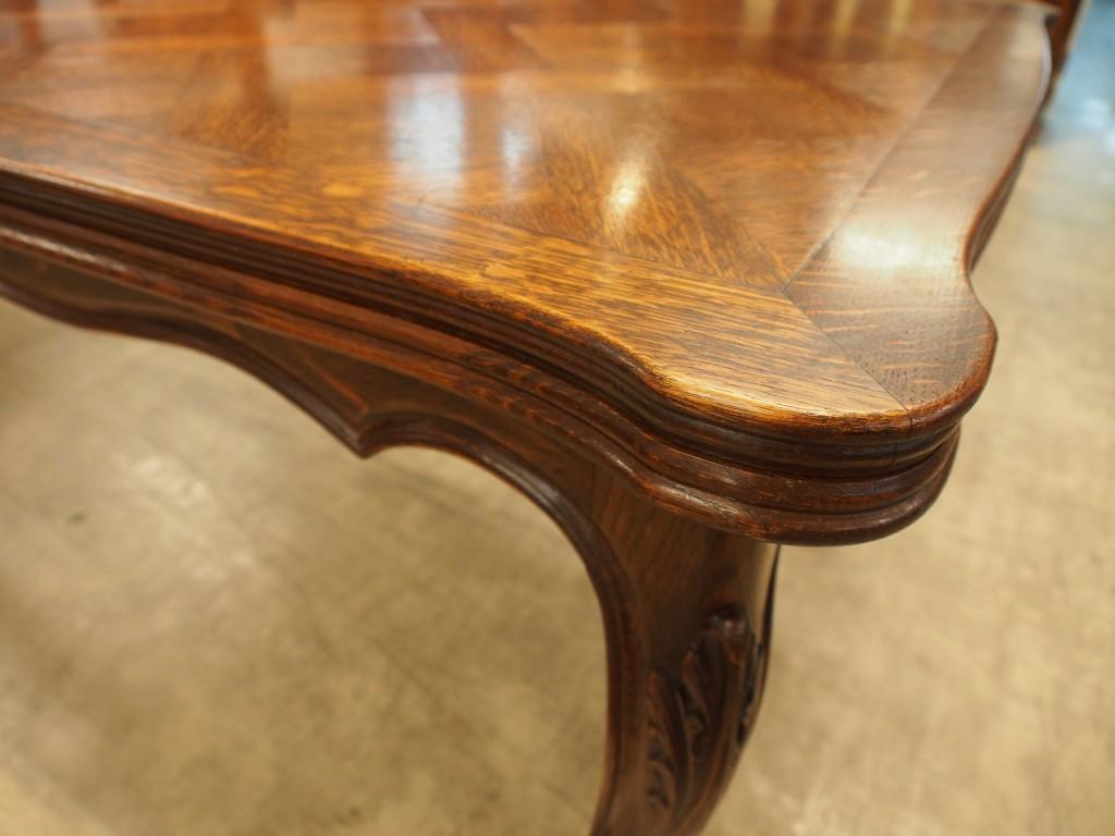 アンティーク家具 ダイニングテーブル ドローリーフテーブル フレンチ 伸縮式テーブル テーブル ツインアンティークス 大阪