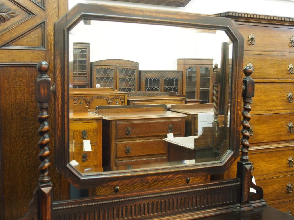 アンティーク家具 アンティーク ドレッシングテーブル 鏡台 ドレッサー 収納 ツインアンティークスク