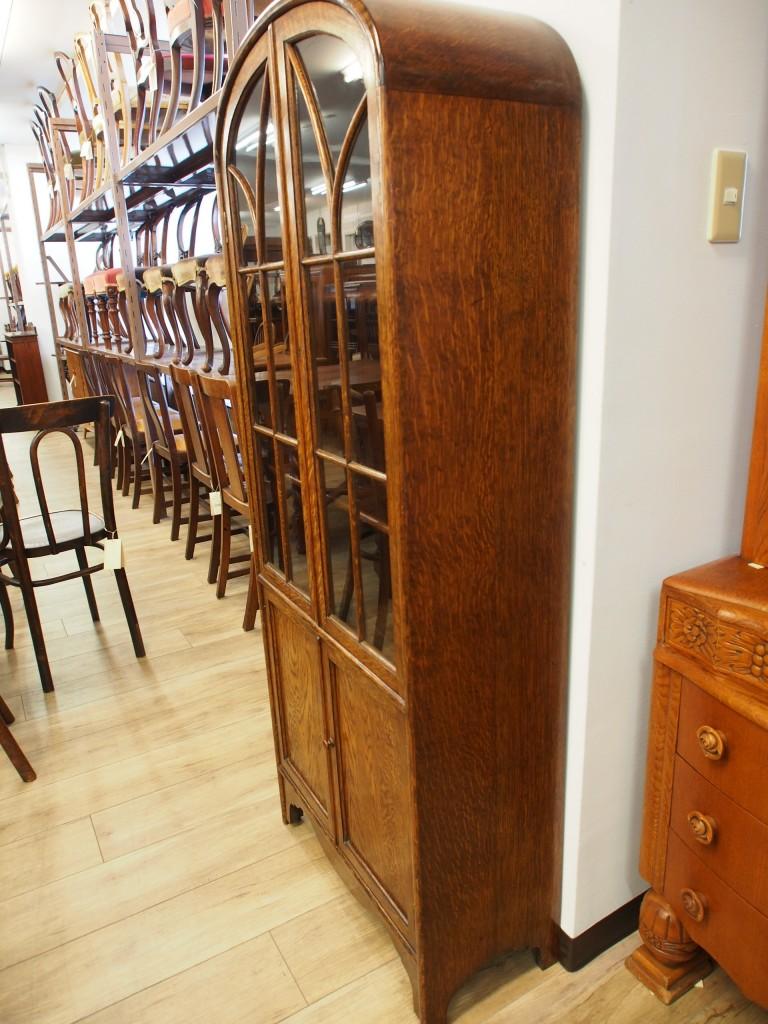 アンティーク家具 アンティーク キャビネット ブックケース 食器棚 ツインアンティークス