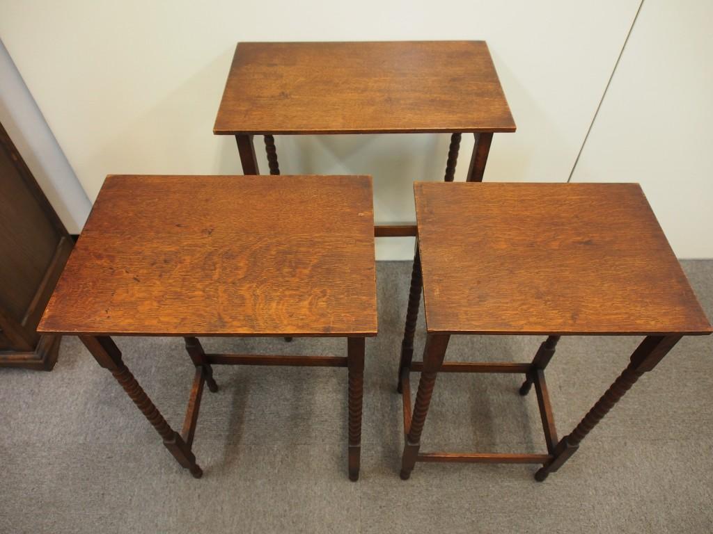 アンティーク家具 アンンティーク ネストテーブル サイドテーブル ツインアンティークス