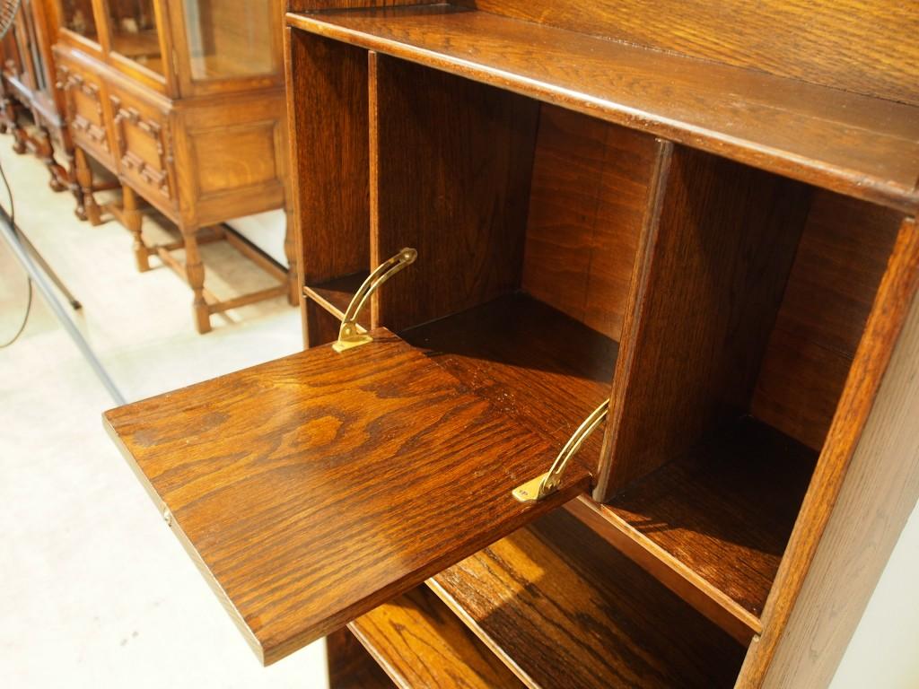 アンティーク家具 アンティーク オープンブックケース ブックケース 本棚 収納 ディスプレイ ツインアンティークス