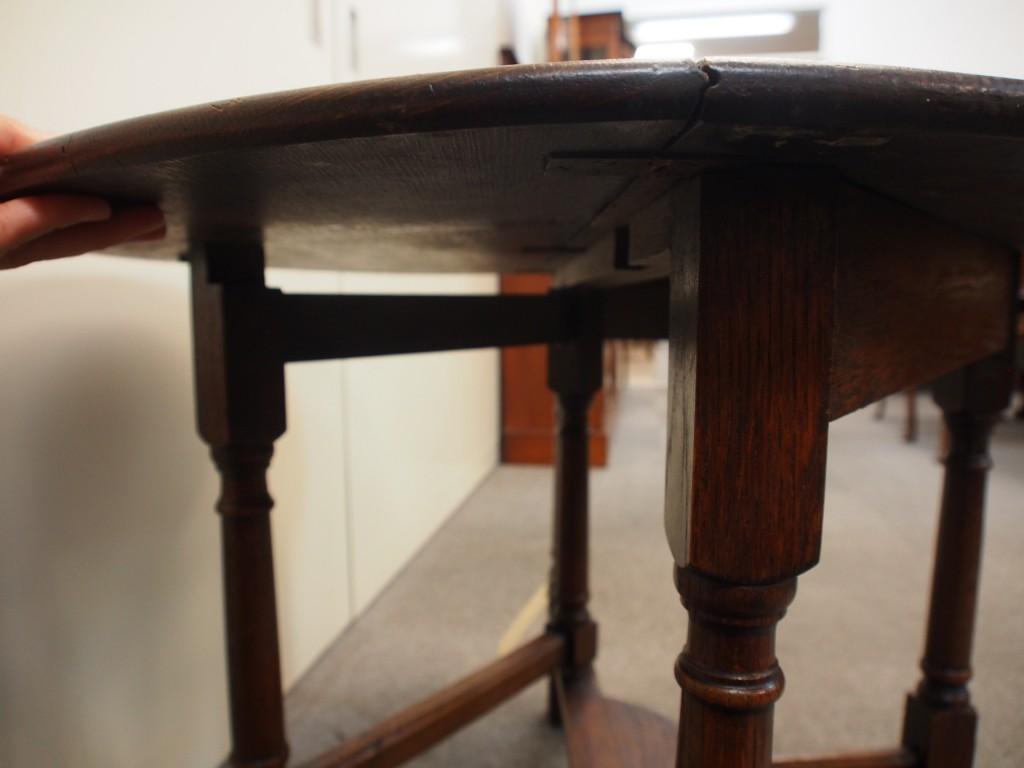 アンティーク家具 アンティーク コーヒーテーブル サイドテーブル ゲートレッグ ハーフラウンド テーブル ツインアンティークス