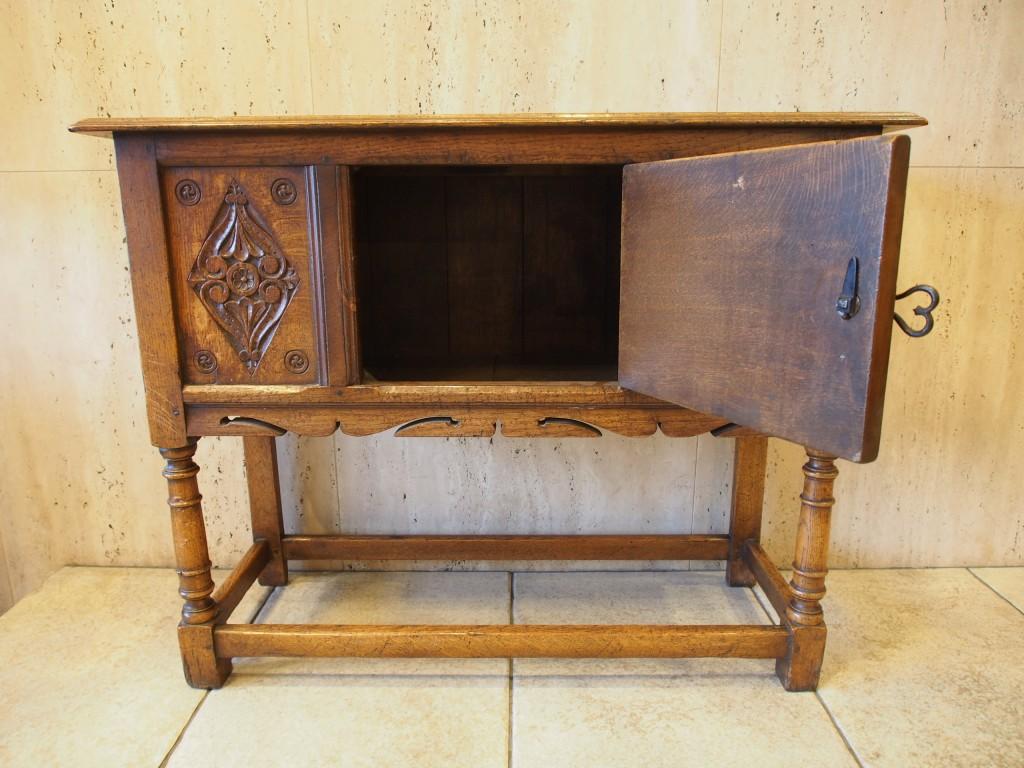 アンティーク家具 アンティーク カップボード 収納 サイドボード イプスウィッチオーク ツインアンティークス
