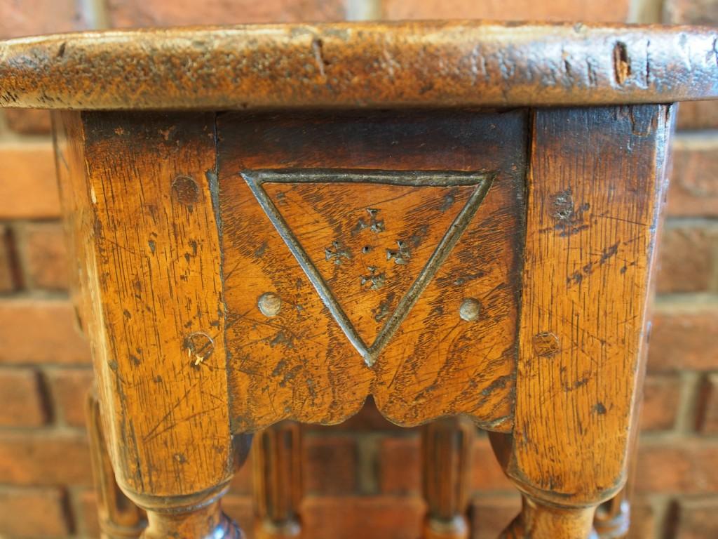 アンティーク家具 アンティーク スツール 椅子 玄関 花台 ジャコビアン ツインアンティークス