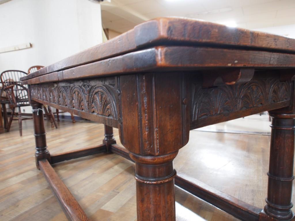 アンティーク家具 アンティークテーブル リフェクトリーテーブル ラージテーブル ジャコビアンスタイル 英国アンティーク イギリスアンティーク ツインアンティークス カントリーテーブル
