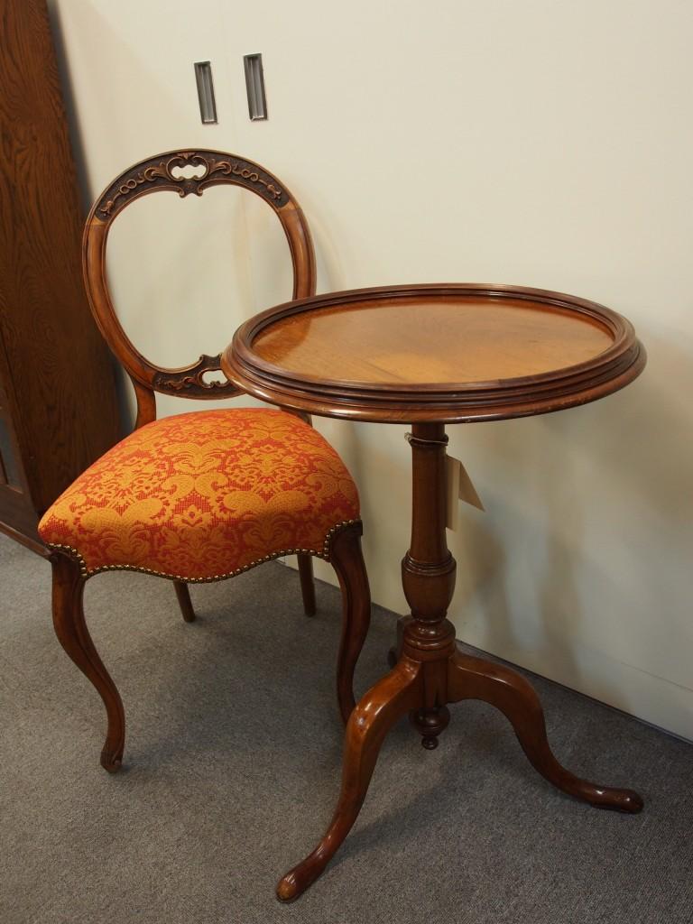 アンティーク家具 アンティーク ワインテーブル サイドテーブル ティーテーブル 花台 マホガニー ツインアンティークス