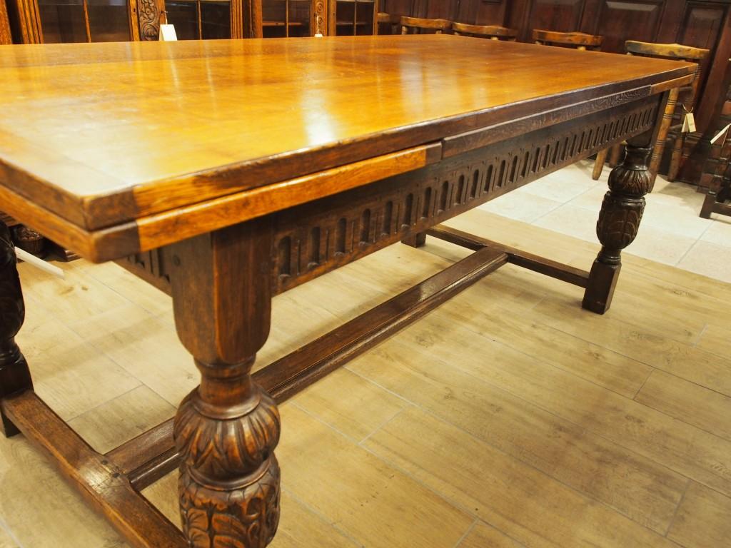 アンティークア家具 アンティーク ダイニングテーブル ドローリーフテーブル テーブル 伸縮式テーブル ツインアンティークス