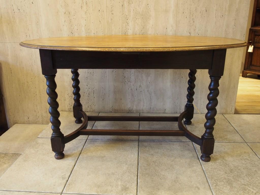 アンティーク家具 アンティーク ダイニングテーブル テーブル オーバルテーブル ツイストレッグ ツインアンティークス