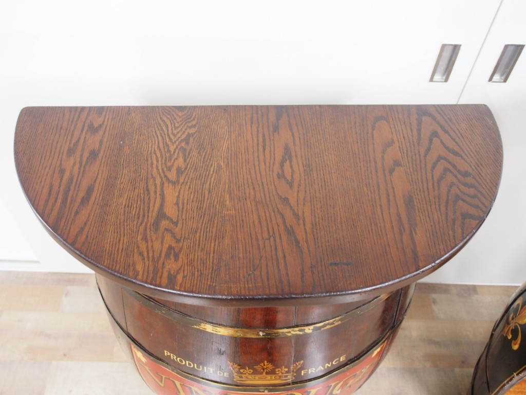 アンティーク家具 アンティーク バレルクラフト 樽 オーク樽 ガーデン バーカウンター ミニカウンター キッチン収納 ツインアンティークス