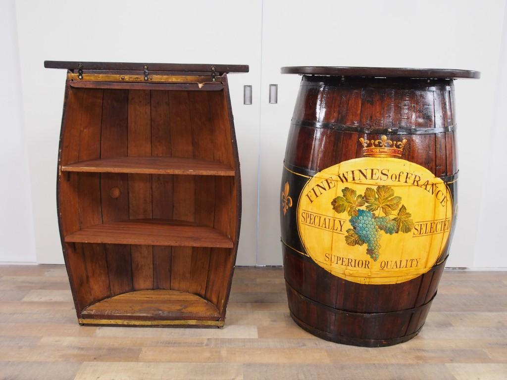 アンティーク家具 アンティーク バレルクラフト オーク 樽 バーカウンター ミニカウンター キッチン収納 ガーデン ツインアンティークス