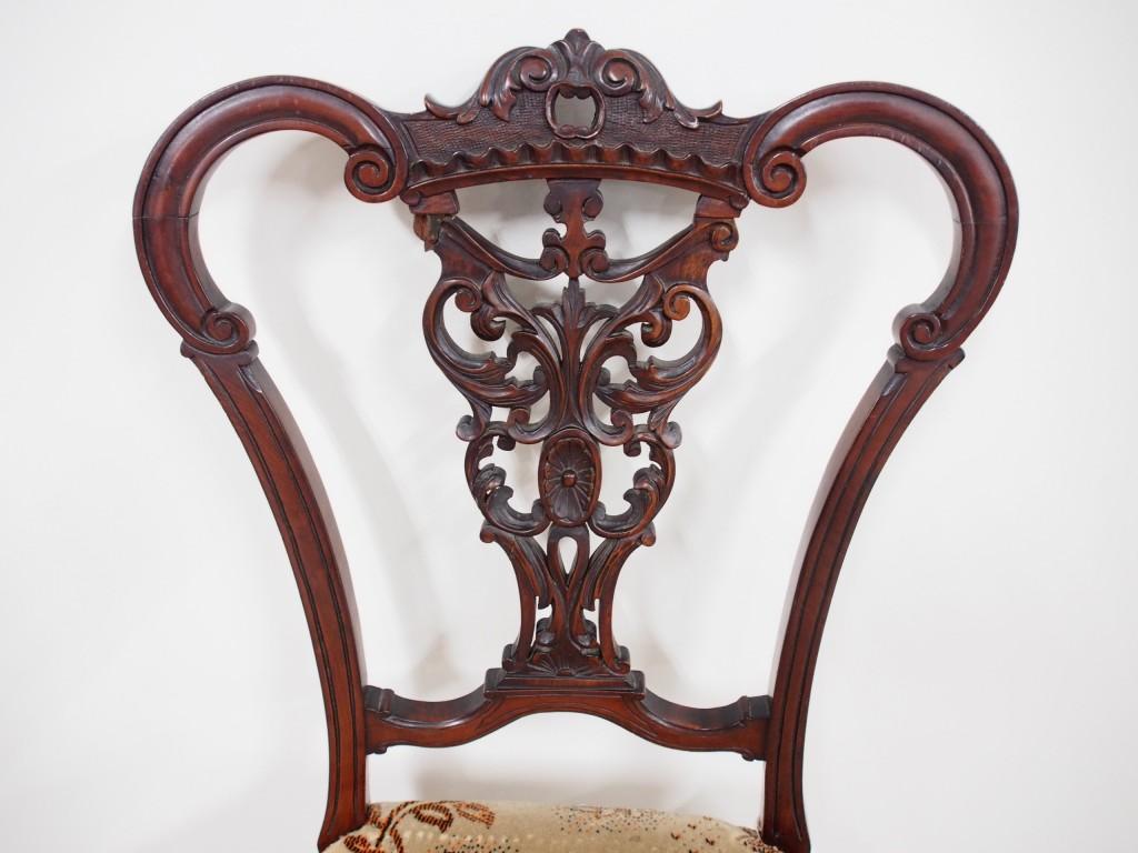 アンティーク家具 アンティーク ヴィクトリアン チェア マホガニー イス ダイニングチェア 椅子 ツインアンティークス