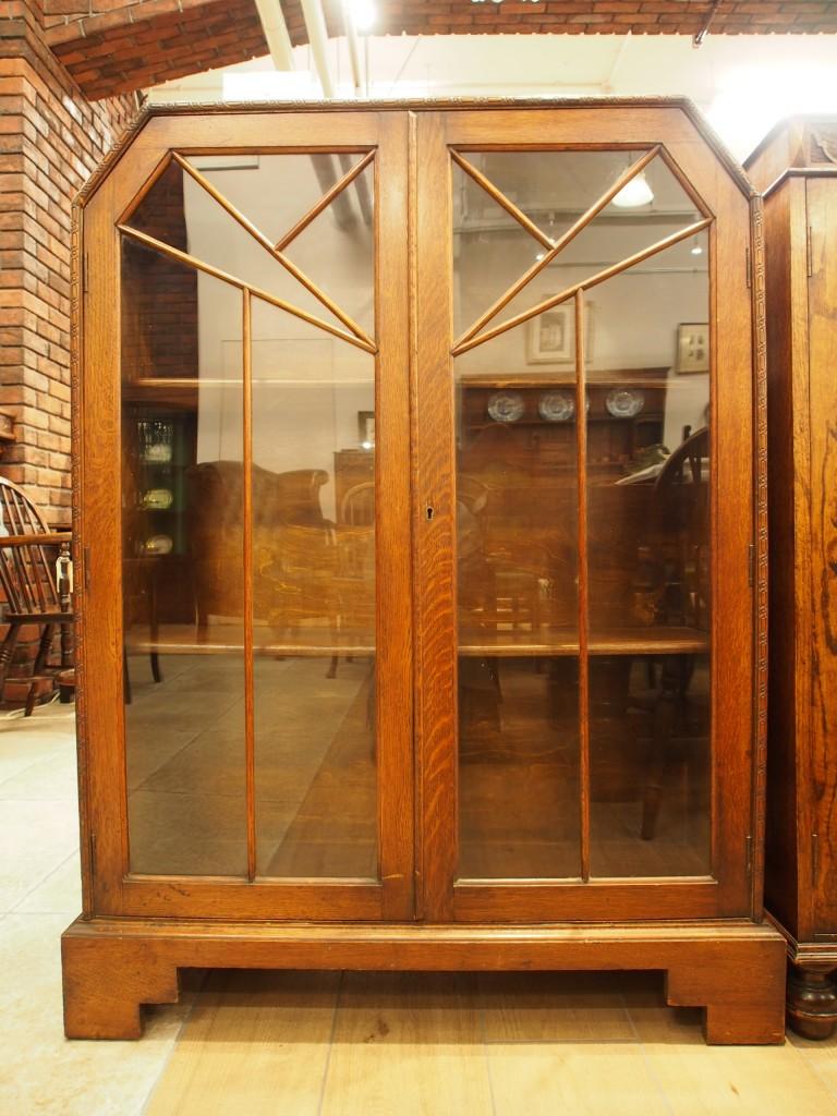 アンティーク家具 アンティーク ブックケース 本棚 収納棚 ツインアンティークス