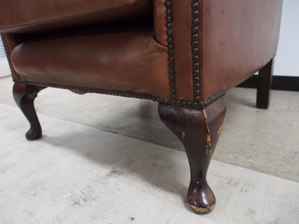 アンティーク家具 アンティーク チェスターフィールド ウィングアームチェア ソファ アームチェア ツインアンティークス