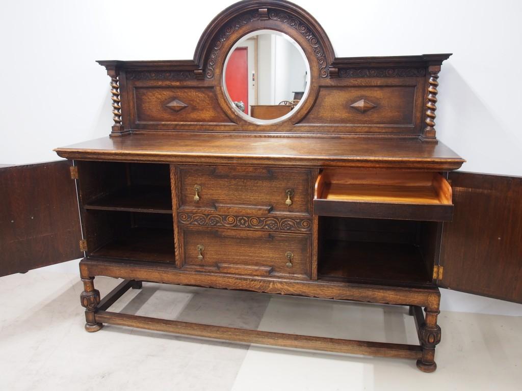 アンティーク家具 アンティーク サイドボード 収納 ライオン 彫ツインアンティークス