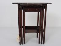 アンティーク家具 アンティーク マホガニーネストテーブル サイドテーブル テーブル ツインアンティークス