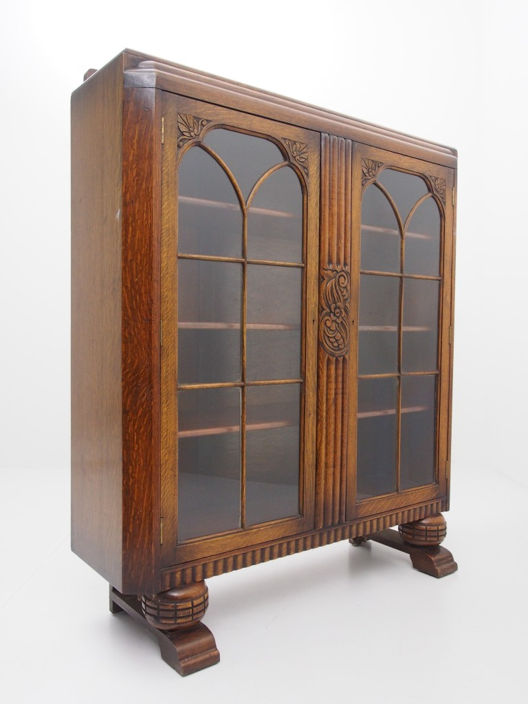 アンティーク家具 アンティーク ブックケース 本棚 書庫 食器棚 ディスプレイ ツインアンティークス