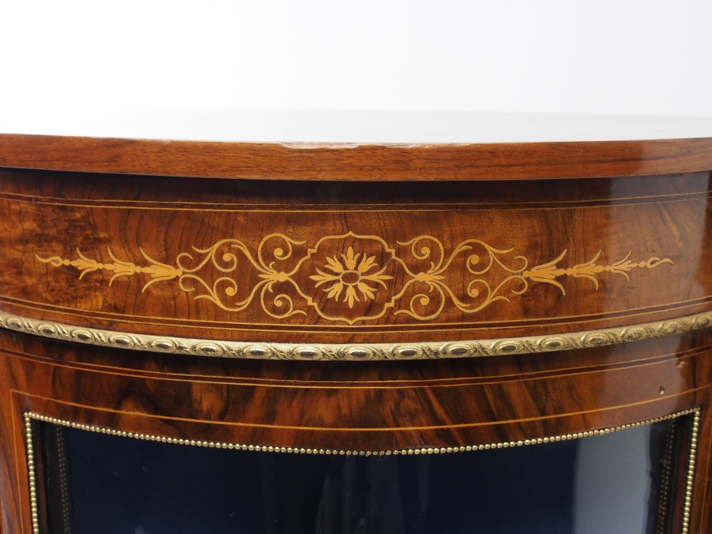 アンティーク家具 アンティーク クレデンザ クレデンツァ セーブル キャビネット 陶板 Porcelin ルイ15世 ツインアンティークス
