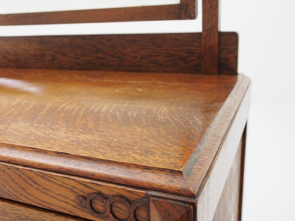 アンティーク家具 アンティーク ドレッシングテーブル ドレッサー チェスト 収納 ミラー ツインアンティークス