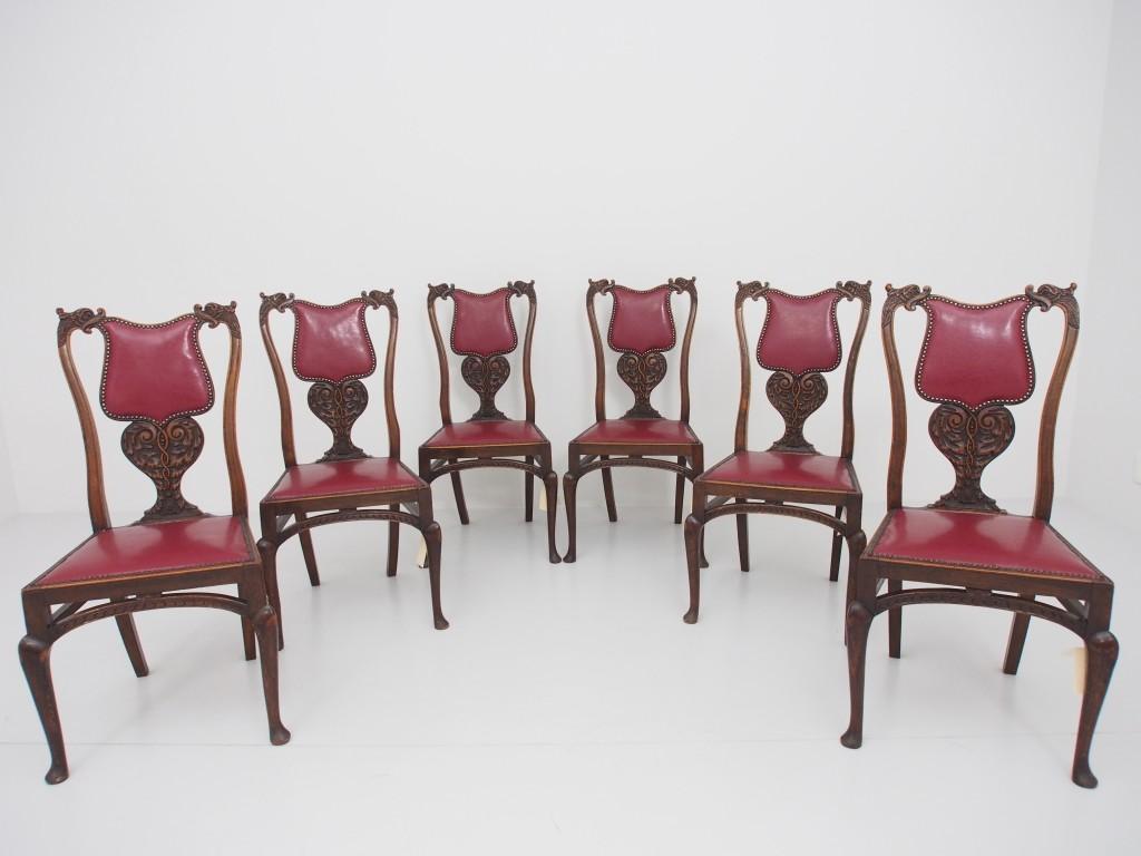 アンティーク家具 アンティーク アームチェア チェア 肘付椅子 DRUCE&Co. イルカ アカンサス ツインアンティークス