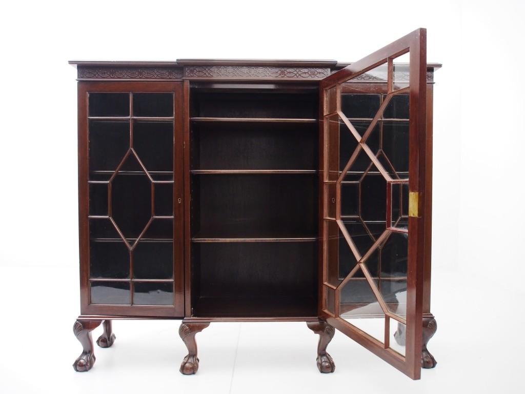 アンティーク家具 アンティーク ブックケース マホガニー 書庫 キャビネット 本棚 収納 ツインアンティークス