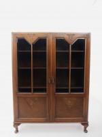 アンティーク家具 アンティーク ブックケース 本棚 書庫 食器棚 収納 ツインアンティークス