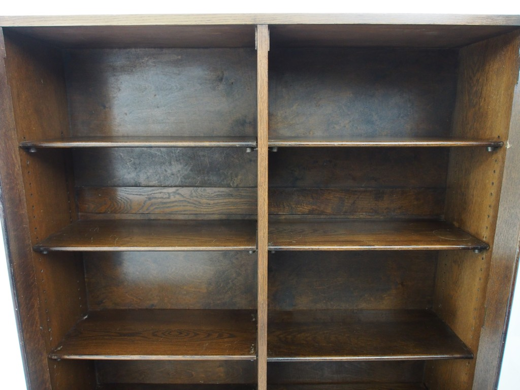 アンティーク家具 アンティーク ブックケース 本棚 書庫 収納 食器棚 ツインアンティークス