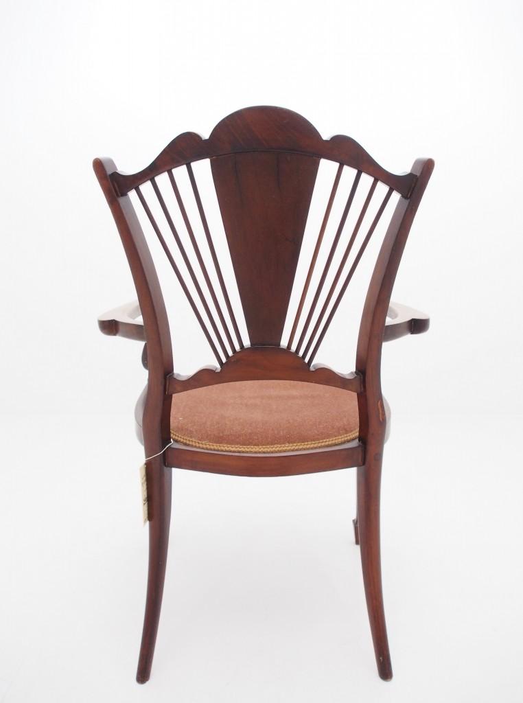 アンティーク家具 アンティーク ヴィクトリアンチェア チェア アームチェア 椅子  象嵌 インレイド マーケットリー ツインアンティークス