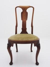 アンティーク家具 アンティーク チェア イス 椅子 ダイニングチェア クイーンアン様式 猫脚 カブリオールレッグ ツインアンティークス