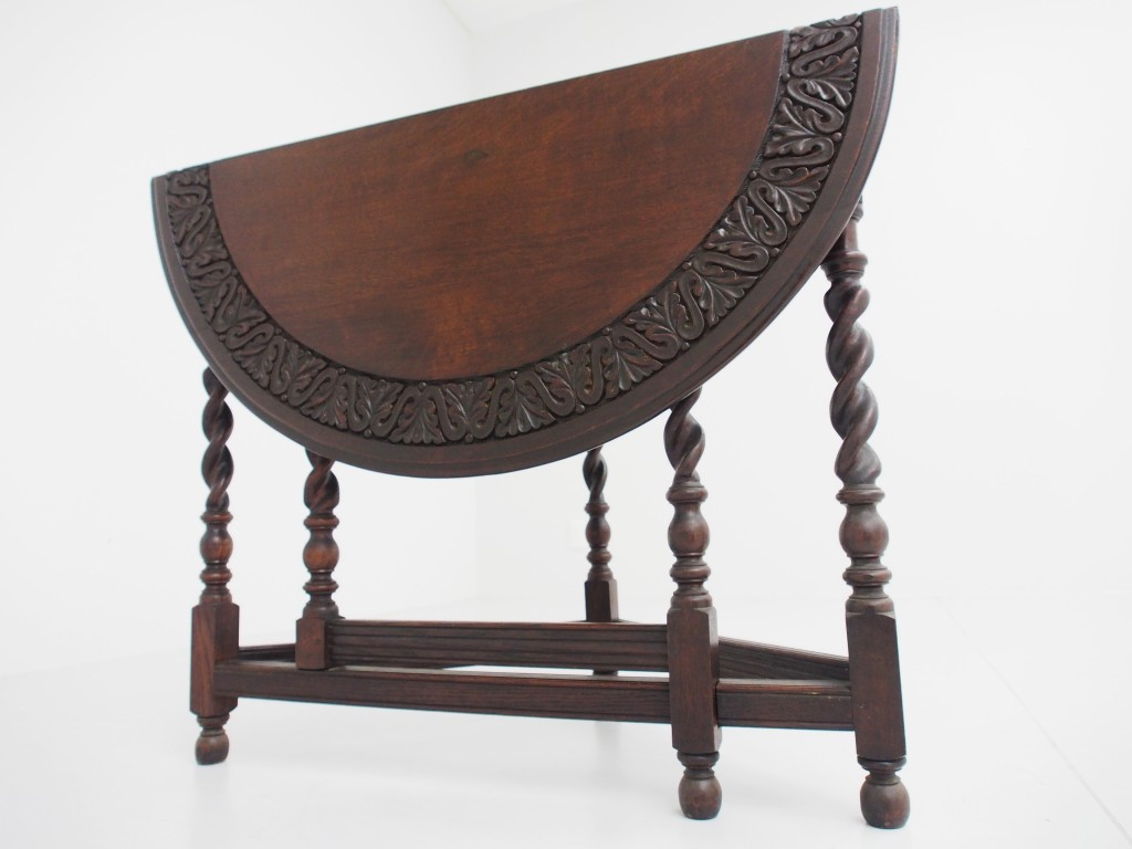 アンティーク家具 アンティーク ゲートレッグ サイドテーブル テーブル カーヴィングオーク カーヴィング ツインアンティークス