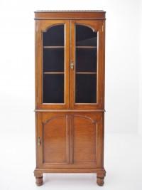 アンティーク家具 アンティーク ブックケース 本棚 棚 食器棚 書庫 ツインアンティークス