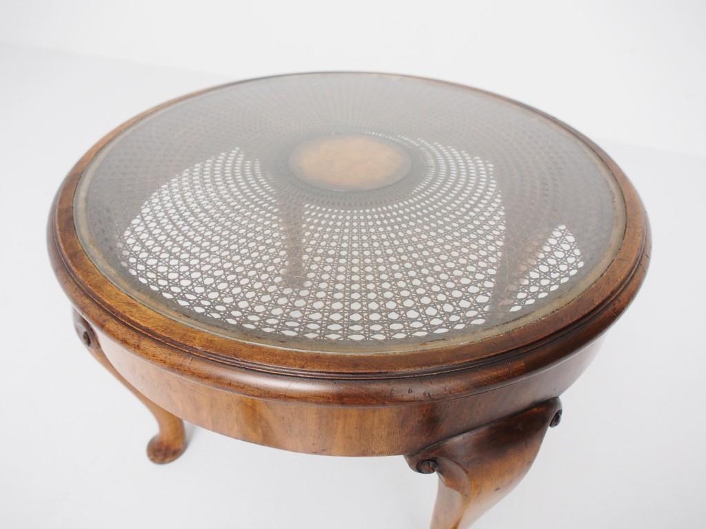 アンティーク家具 アンティーク 籐編み 籐 ケーントップ カゴメ編み コーヒーテーブル テーブル サイドテーブル ツインアンティークス