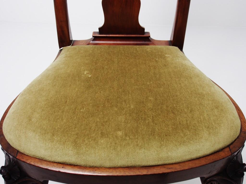 アンティーク家具 アンティーク チェア 椅子 イス ダイニングチェア クイーンアン様式 カブリオール 猫脚  ツインアンティークス