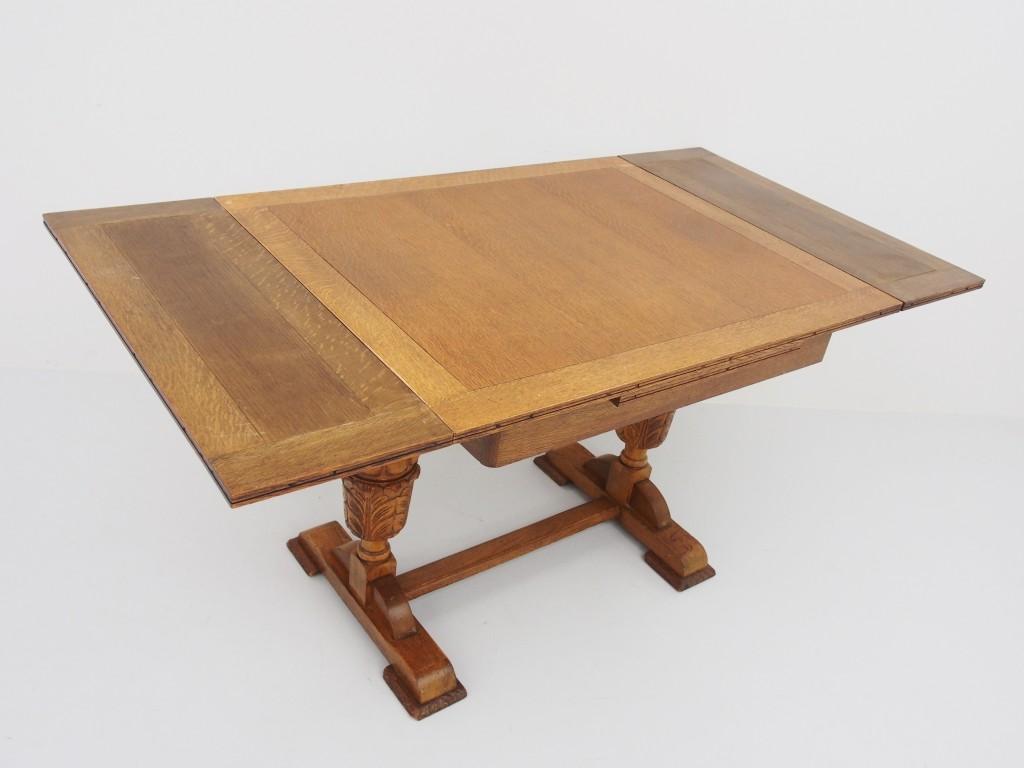 アンティーク家具 アンティーク ドローリーフテーブル ダイニングテーブル 伸縮式テーブル エクステンションテーブル ツインアンティークス