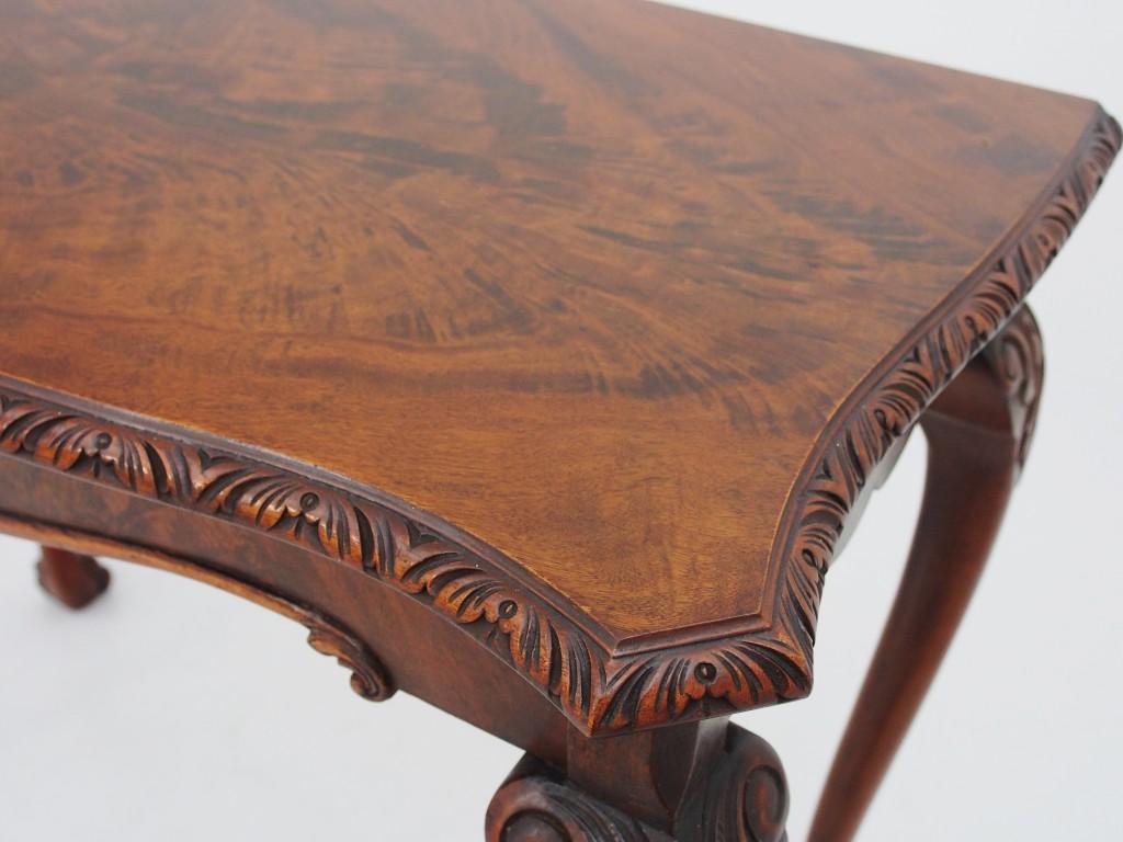 アンティーク家具 アンティーク コンソールテーブル サイドテーブル マホガニーテーブル クイーンアンスタイル ツインアンティークス