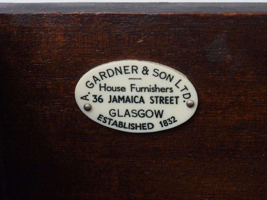 A.Gardner & Son社のメーカープレートがついています。