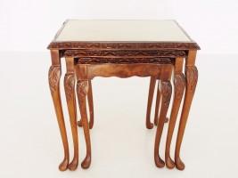 アンティーク家具 アンティーク ネストテーブル クイーンアン サイドテーブル ツインアンティークス