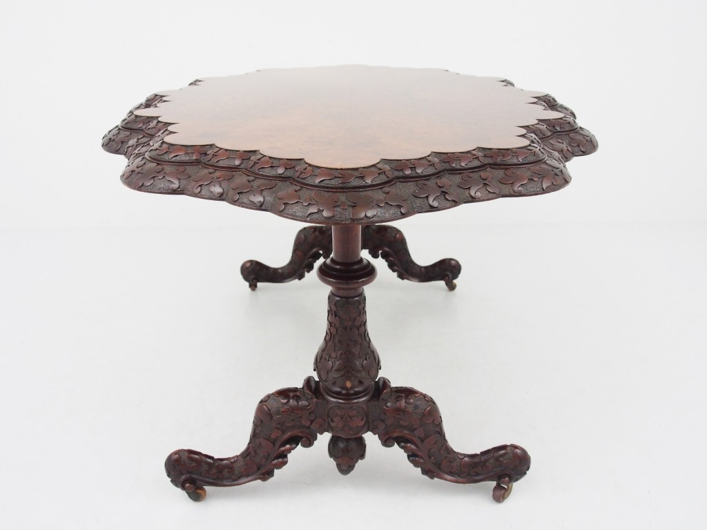 アンティーク家具 アンティーク センターテーブル テーブル ルーテーブル バーウォルナット ウォルナット シャムロック アイルランド ツインアンティークス