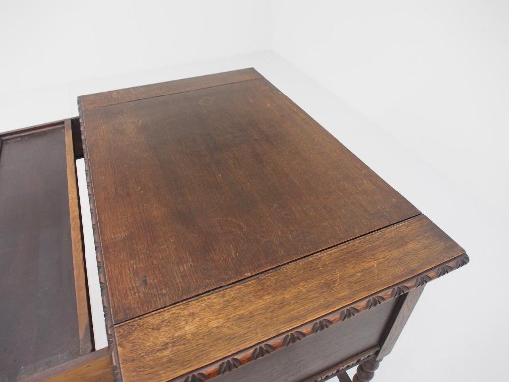 アンティーク家具 アンティーク デスク ポップアップデスク 机 サイドテーブル ボビンレッグ ツインアンティークス