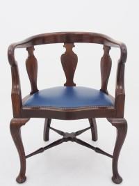 アンティーク家具 アンティーク アームチェア チェア 椅子 エドワーディアン ウォルナット ツインアンティークス