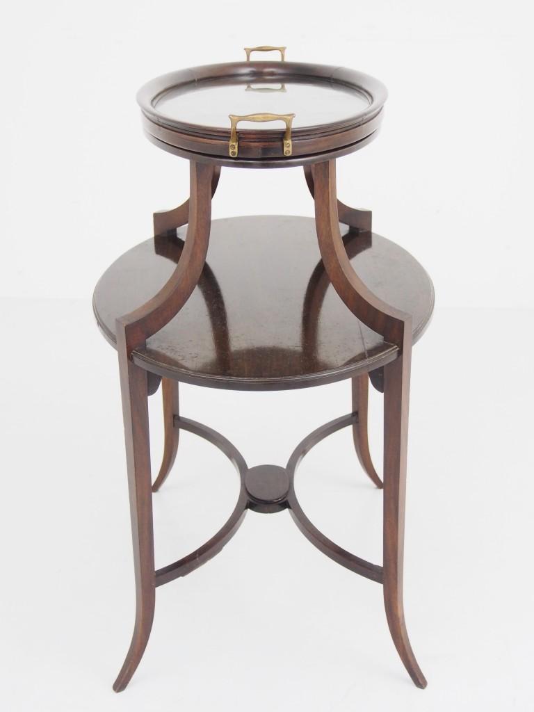 アンティーク家具 アンティーク サービングテーブル サイドテーブル オケージョナルテーブル ウィンドウテーブル エドワーディアン マホガニー ツインアンティークス