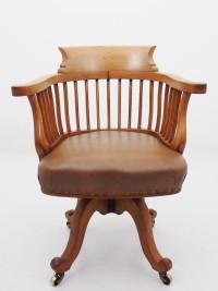 アンティーク家具 アンティーク デスクチェア スウィーベル 回転式椅子 回転式チェア スモーカーズチェア ウィンザーチェア アームチェア ツインアンティークス