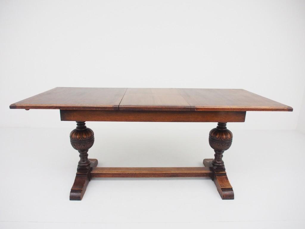 アンティーク家具 アンティーク テーブル ダイニングテーブル エクステンションテーブル サプライズテーブル 食卓机 伸縮 オーク ツインアンティークス